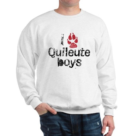 I Paw Quileute Boys Sweatshirt