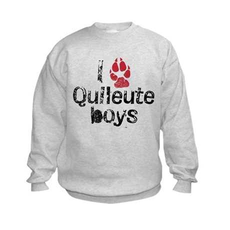 I Paw Quileute Boys Kids Sweatshirt