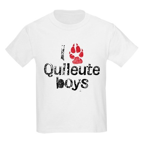 I Paw Quileute Boys Kids Light T-Shirt