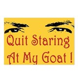 Quit Staring At My Goat! Postcards (Package of 8)