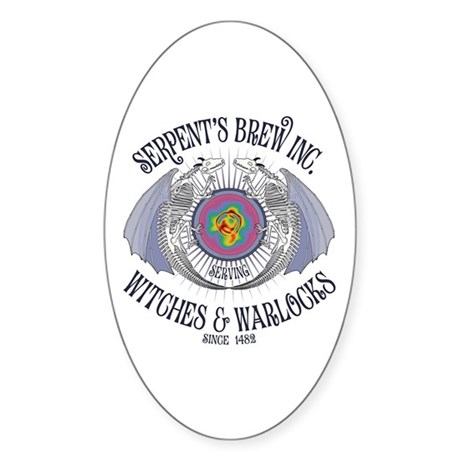 Serpent's Brew Oval Sticker (50 pk)