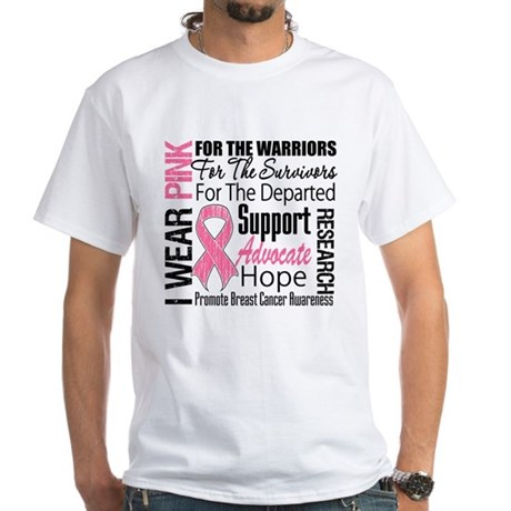 Pink Ribbon Tribute White T-Shirt