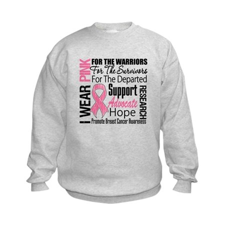Pink Ribbon Tribute Kids Sweatshirt