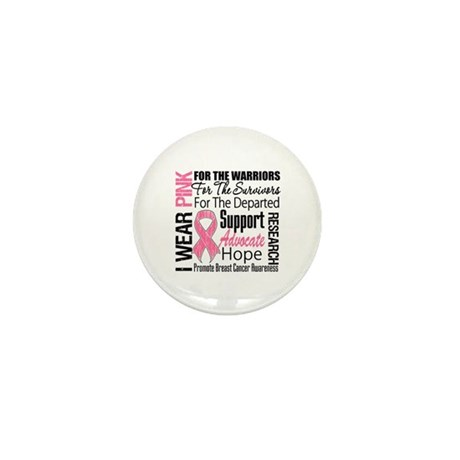 Pink Ribbon Tribute Mini Button (100 pack)