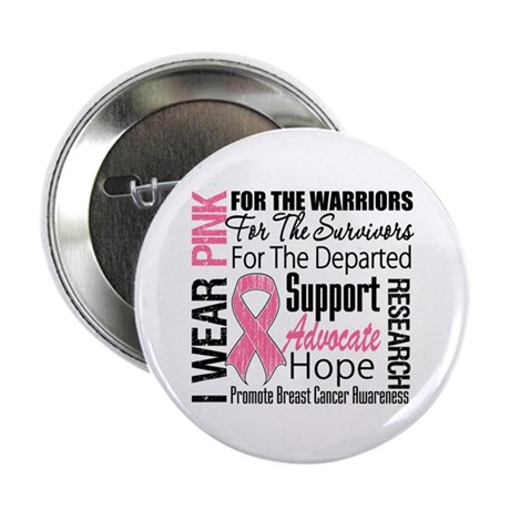 "Pink Ribbon Tribute 2.25"" Button (100 pack)"