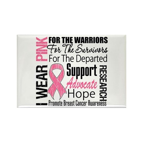 Pink Ribbon Tribute Rectangle Magnet (10 pack)