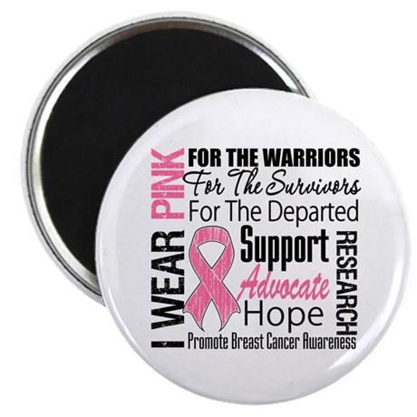 "Pink Ribbon Tribute 2.25"" Magnet (10 pack)"