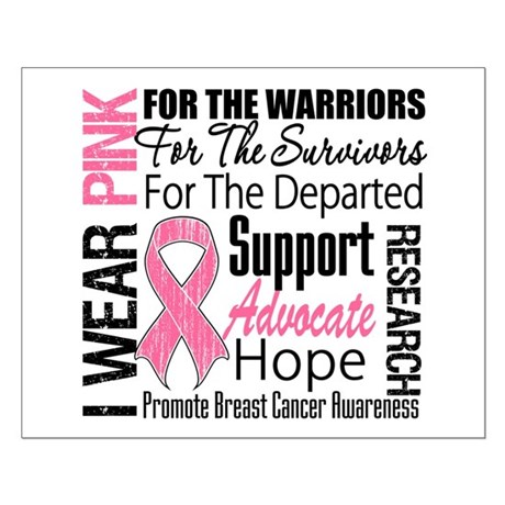 Pink Ribbon Tribute Small Poster