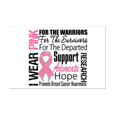 Pink Ribbon Tribute Mini Poster Print