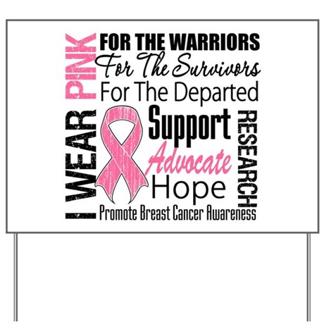 Pink Ribbon Tribute Yard Sign