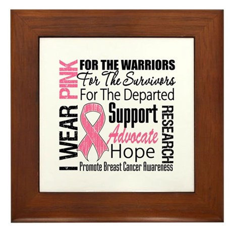 Pink Ribbon Tribute Framed Tile
