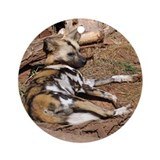 African Wild Dog Ornament (Round)