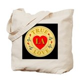 LA True Love Golden Seal Tote Bag