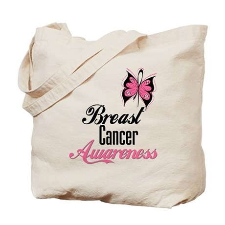 Butterfly Breast Cancer Tote Bag