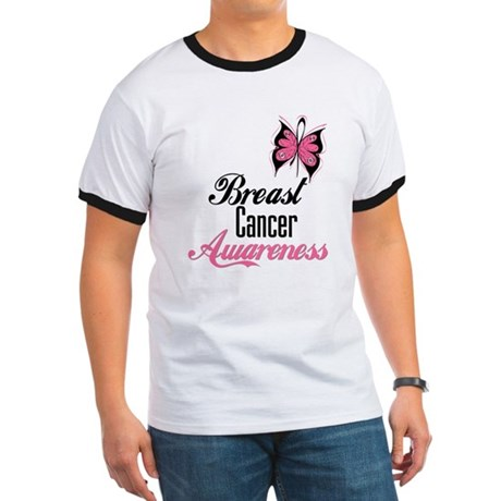 Butterfly Breast Cancer Ringer T