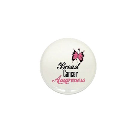 Butterfly Breast Cancer Mini Button (10 pack)