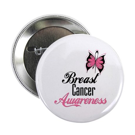 "Butterfly Breast Cancer 2.25"" Button (10 pack)"
