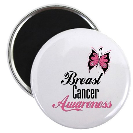 "Butterfly Breast Cancer 2.25"" Magnet (100 pack)"