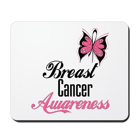Butterfly Breast Cancer Mousepad
