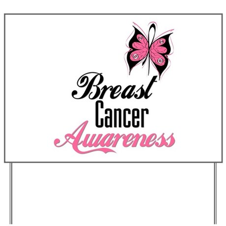 Butterfly Breast Cancer Yard Sign