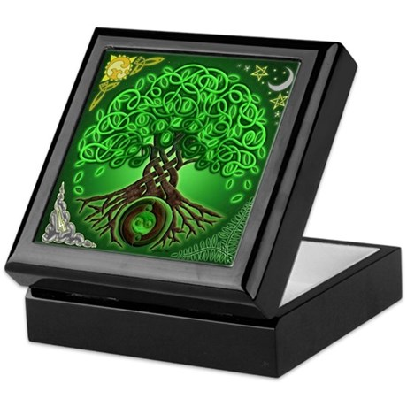 Circle Celtic Tree of Life Keepsake Box