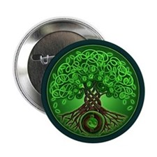 "Circle Celtic Tree of Life 2.25"" Button"