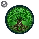 "Circle Celtic Tree of Life 3.5"" Button (10 pack)"