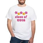 Floral School Class 2018 White T-Shirt