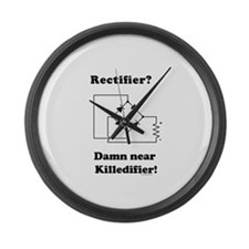Rectifier Joke Shirt Large Wall Clock