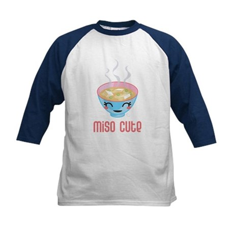 Miso Cute Kids Baseball Jersey