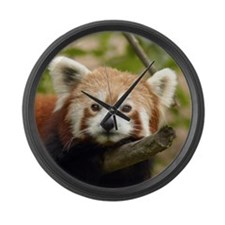 Red Panda Large Wall Clock