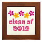 Floral Class Of 2019 Framed Tile