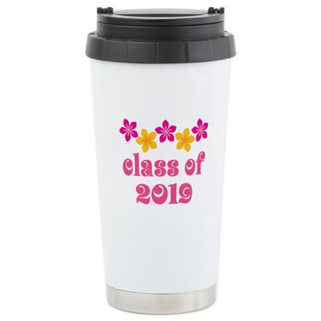 Floral Class Of 2019 Stainless Steel Travel Mug