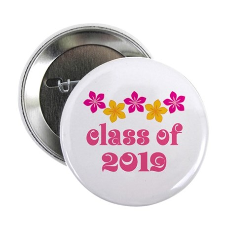 "Floral Class Of 2019 2.25"" Button"