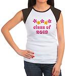 Floral Class Of 2019 Women's Cap Sleeve T-Shirt