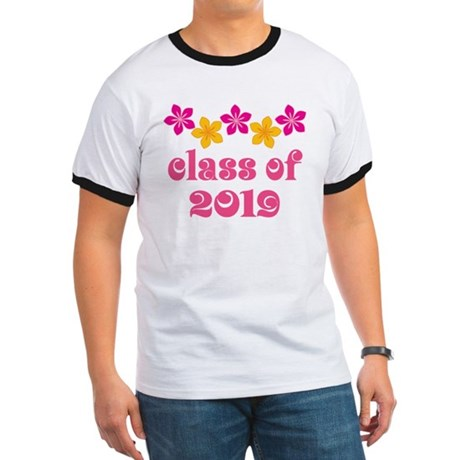 Floral Class Of 2019 Ringer T
