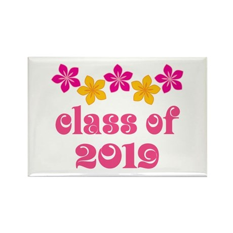 Floral Class Of 2019 Rectangle Magnet