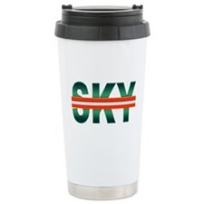 Green Sky Ceramic Travel Mug