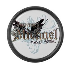 Archangel Michael Rides Again Large Wall Clock
