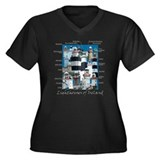 Lighthouses of Ireland Women's Plus Size V-Neck Da