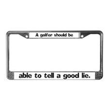 A golfer should be able License Plate Frame
