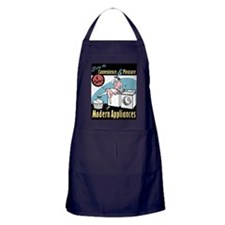 Retro Modern Appliances Apron (dark)