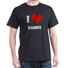 I Love Danny Black T-Shirt