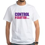 Control the Clutter - White T-Shirt