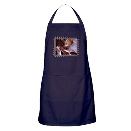 Cat and Ballet Slippers Apron (dark)