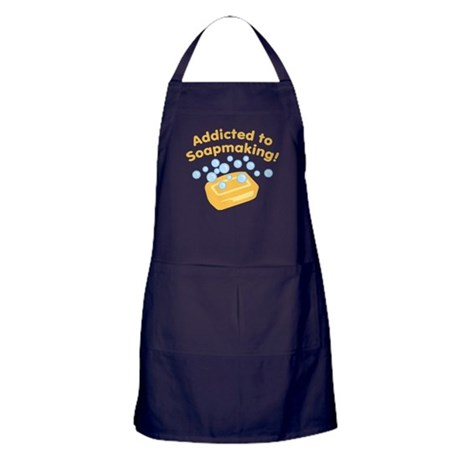Addicted to Soap Craft Apron (dark)