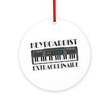 Keyboard Extraordinaire Ornament (Round)