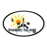 Sanibel Island FL Oval Sticker (10 pk)
