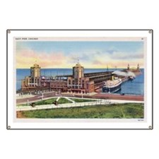 1930's Chicago's Navy Pier Banner