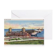 1930's Chicago's Navy Pier Greeting Card